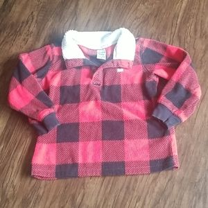 Flannel pullover 24M